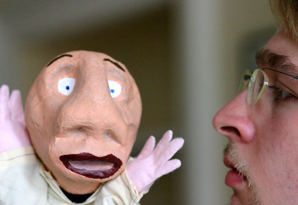Andrew Ormerod and his puppet